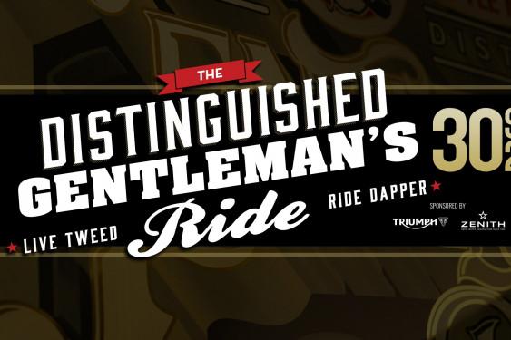 Distinguished Gentleman's Ride 2018